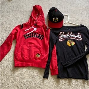 Blackhawk bundle! Hoodie l/s top and hat